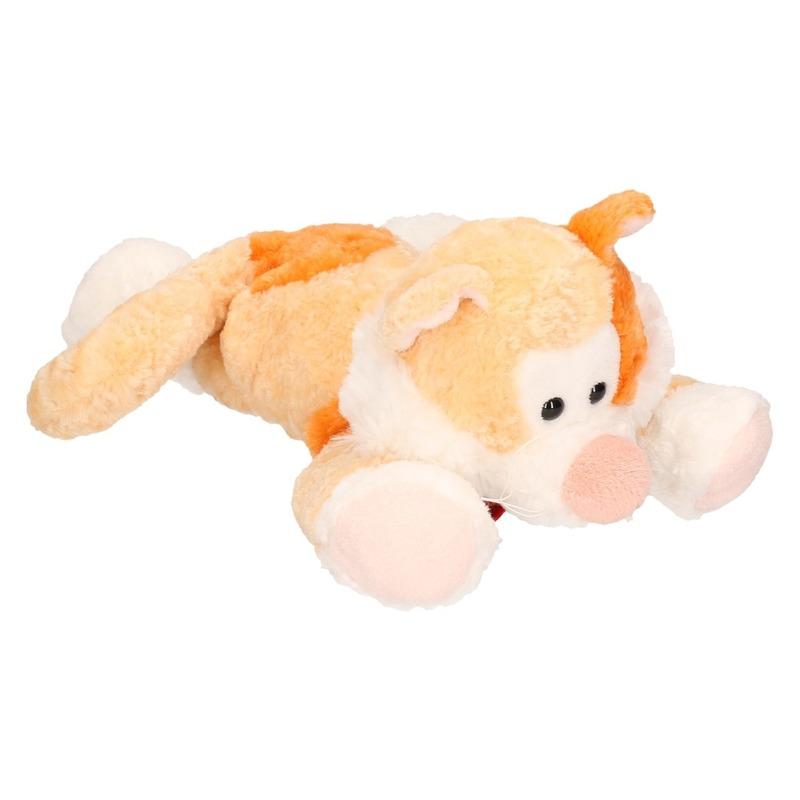 Pluche oranje kat/poes knuffel 20 cm speelgoed