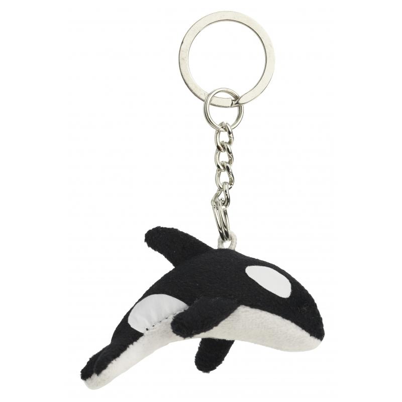 Pluche orka sleutelhangertje 6 cm