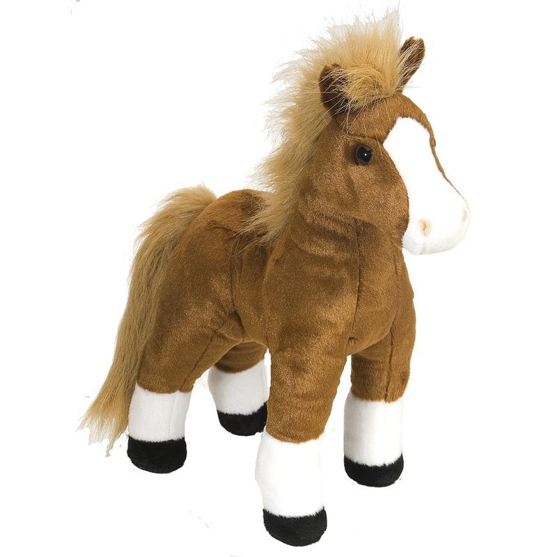 Pluche paarden knuffel 30 cm