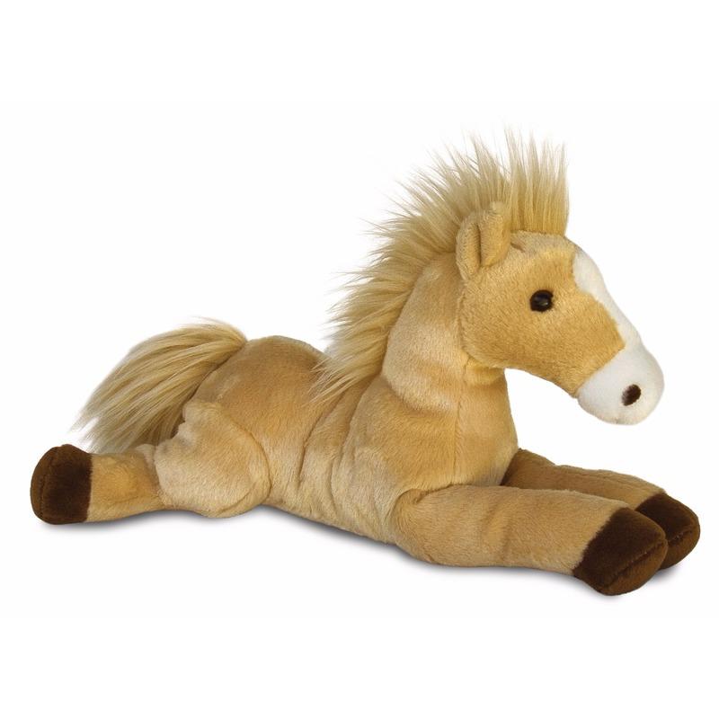 Pluche paarden/veulens knuffel 30 cm
