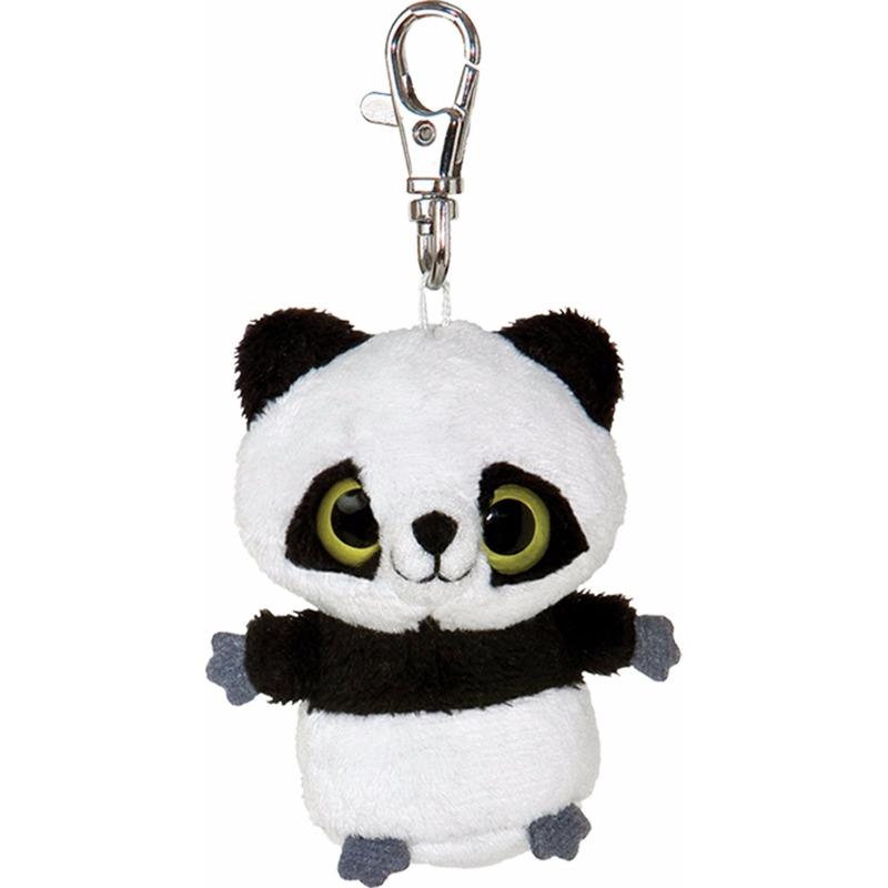 Pluche panda sleutelhanger 7,5 cm