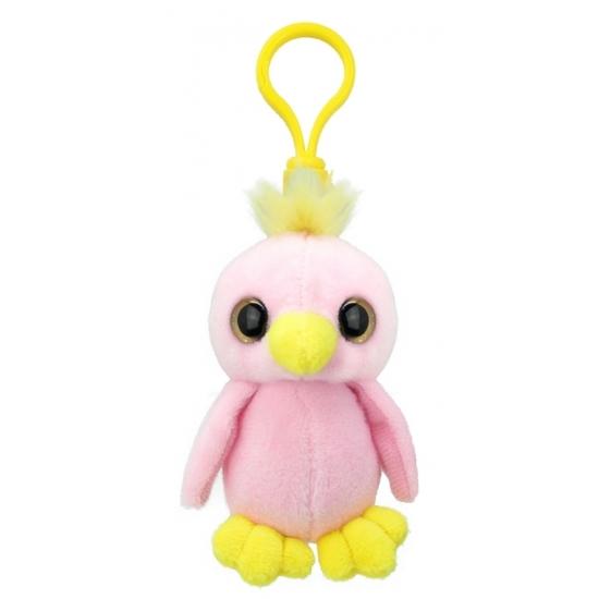 Pluche papegaai sleutelhanger 9 cm