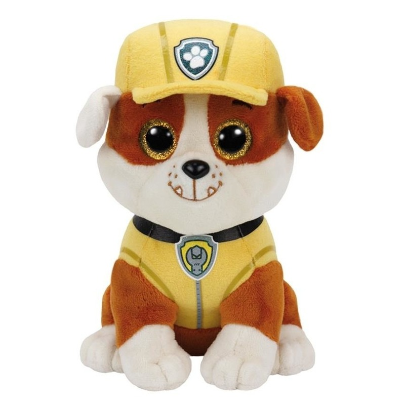 Pluche Paw Patrol Rubble knuffel 15 cm speelgoed