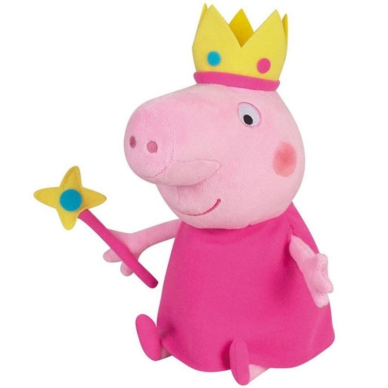 Pluche Peppa Pig/Big prinses knuffel 24 cm speelgoed