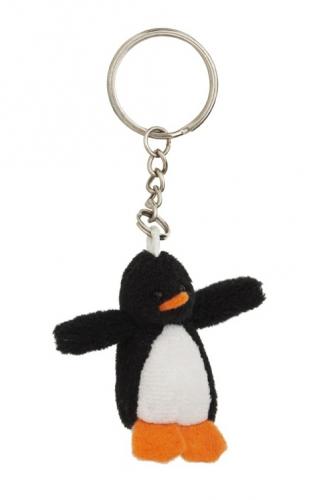 Pluche pinguin knuffelbeest sleutelhanger 6 cm