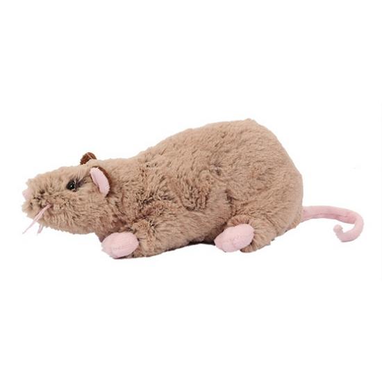 Pluche rat knuffel 22 cm