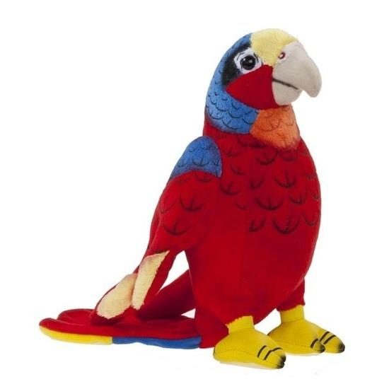 Pluche rode ara papegaai knuffel 20 cm