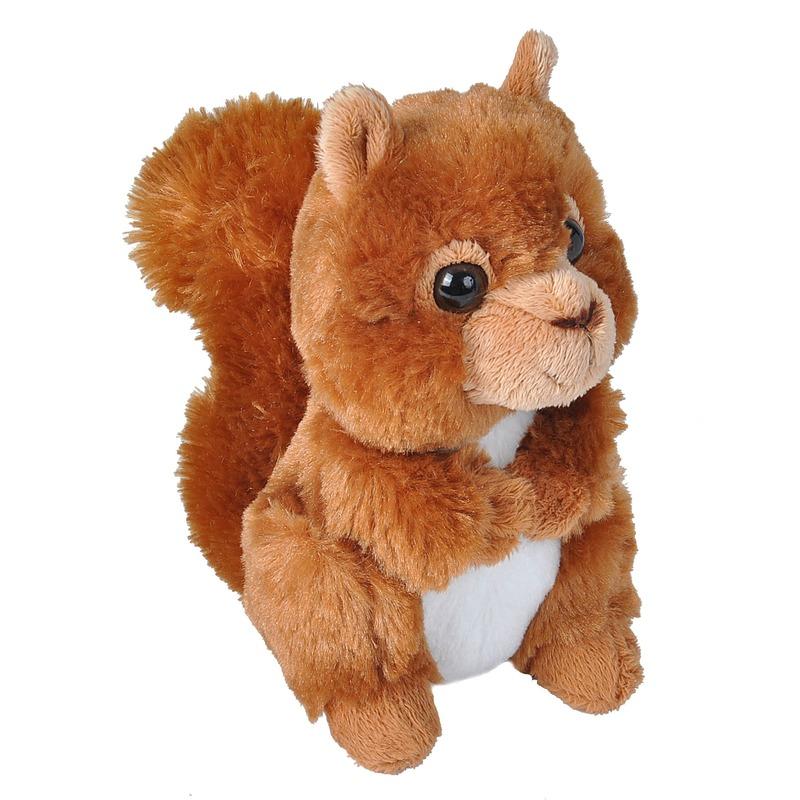 Pluche rode eekhoorn knuffel 18 cm speelgoed