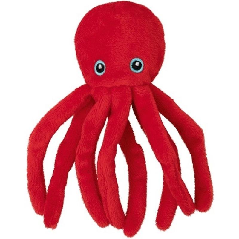 Pluche rode octopus/inktvis knuffel 12 cm speelgoed