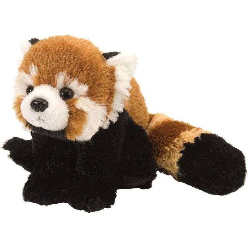 Pluche rode panda/beren knuffel 25 cm speelgoed