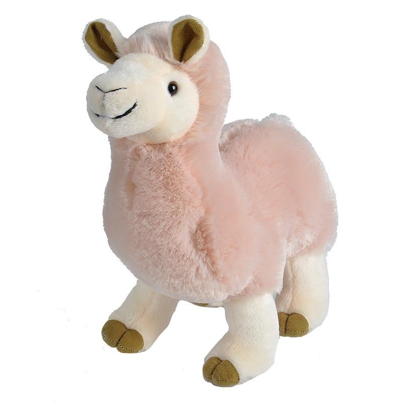 Pluche roze alpaca/lama knuffel 35 cm speelgoed