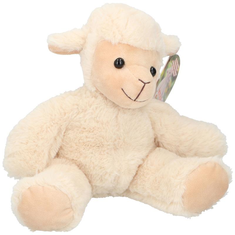 Pluche schaap/lammetje knuffel 25 cm speelgoed