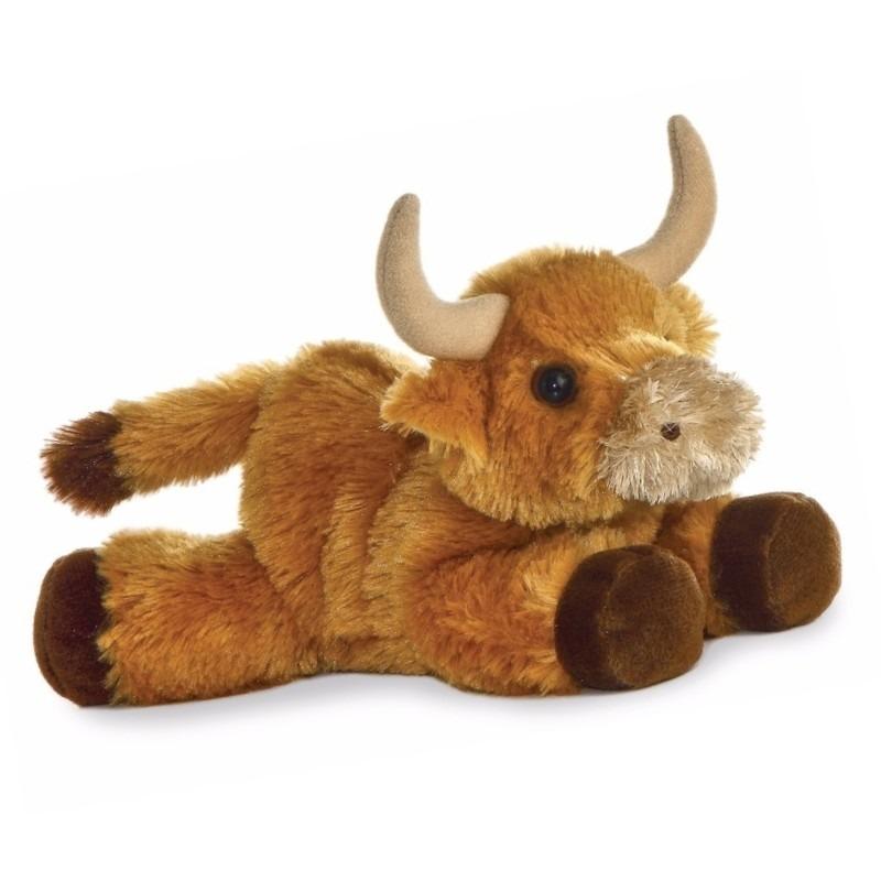 Pluche Schotse Hooglander koeien knuffel 20 cm