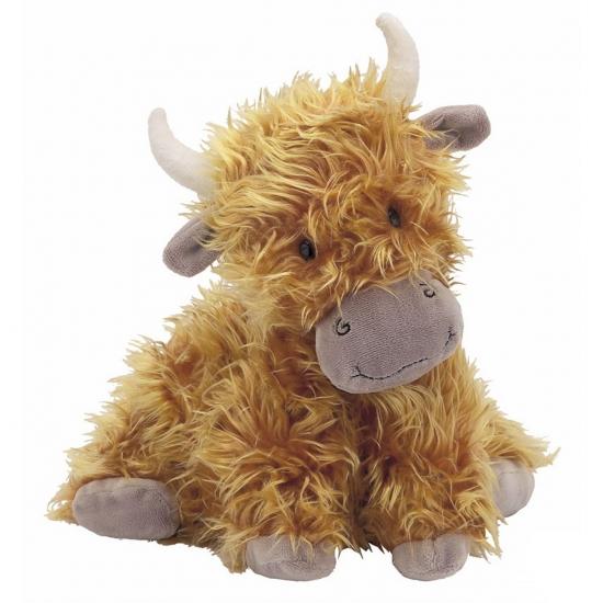 Pluche Schotse koe met horens