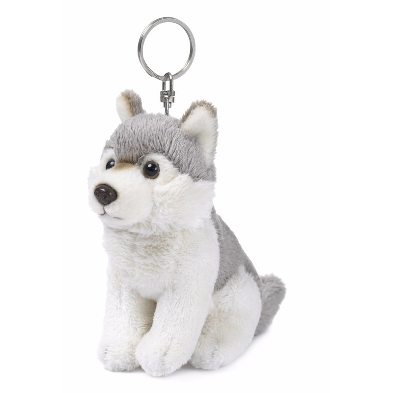 Pluche sleutelhangers husky hond