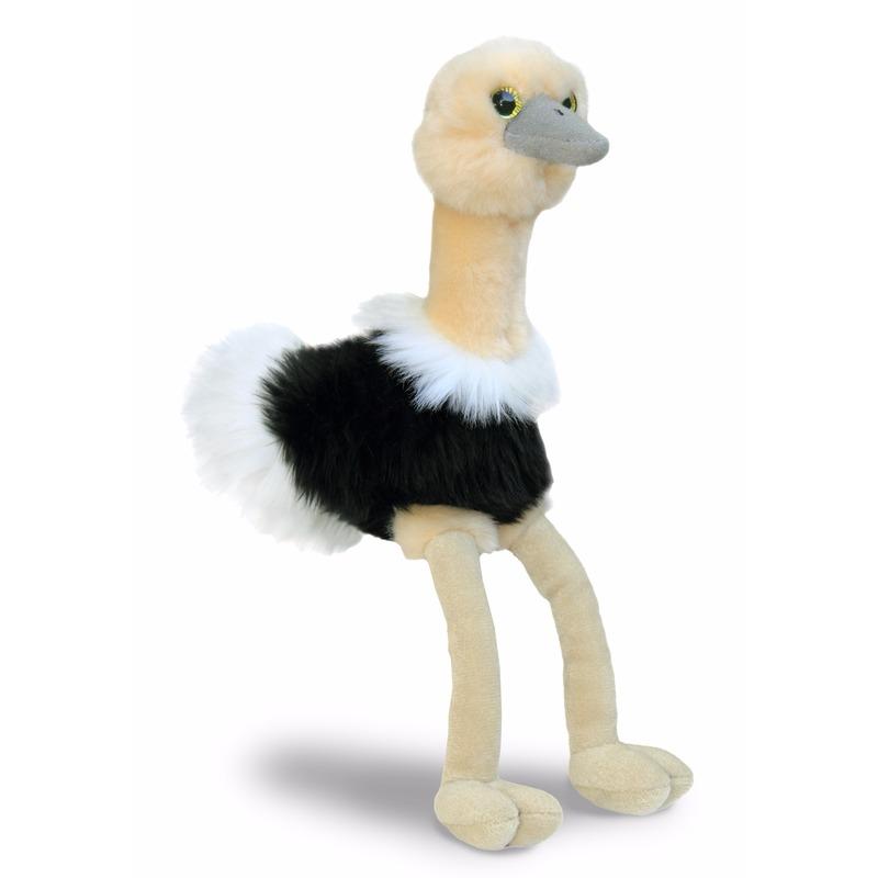 Pluche struisvogel knuffel 20 cm
