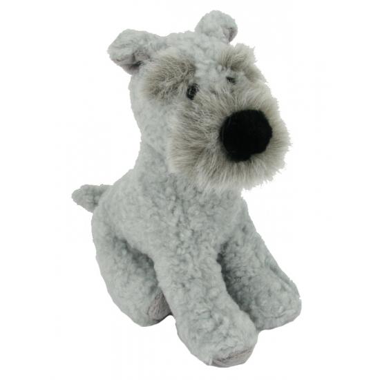 Pluche Terrier in het grijs 17 cm