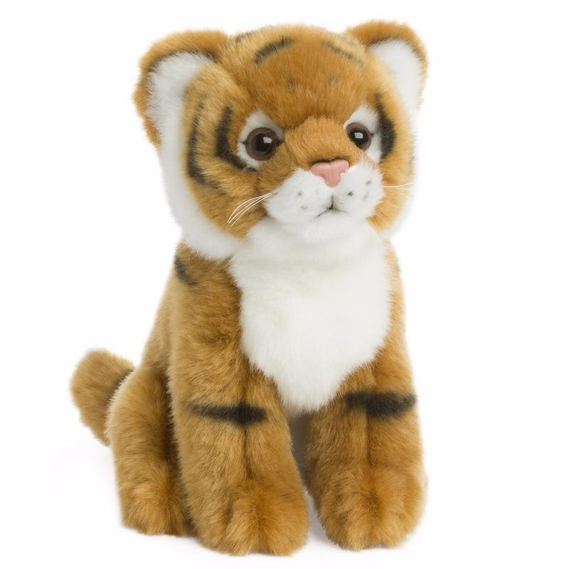 Pluche tijger knuffeldieren 15 cm