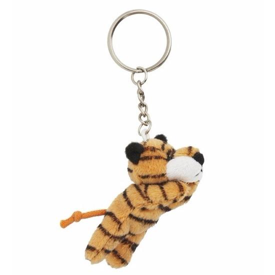 Pluche tijger sleutelhanger 6 cm
