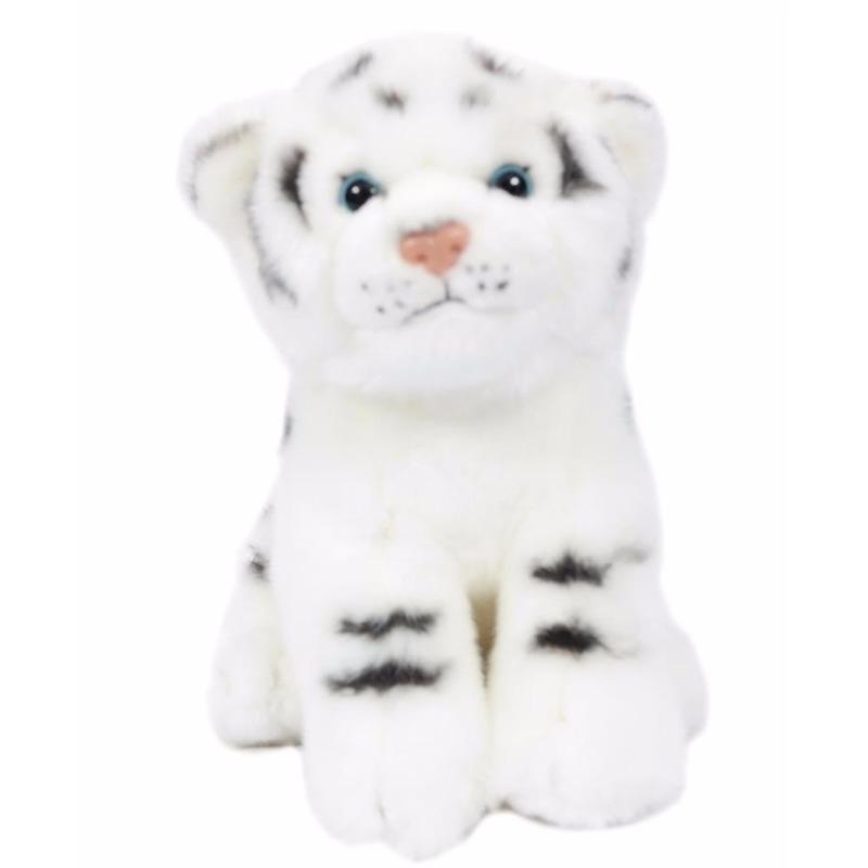 Pluche tijger/welpje knuffel wit 20 cm