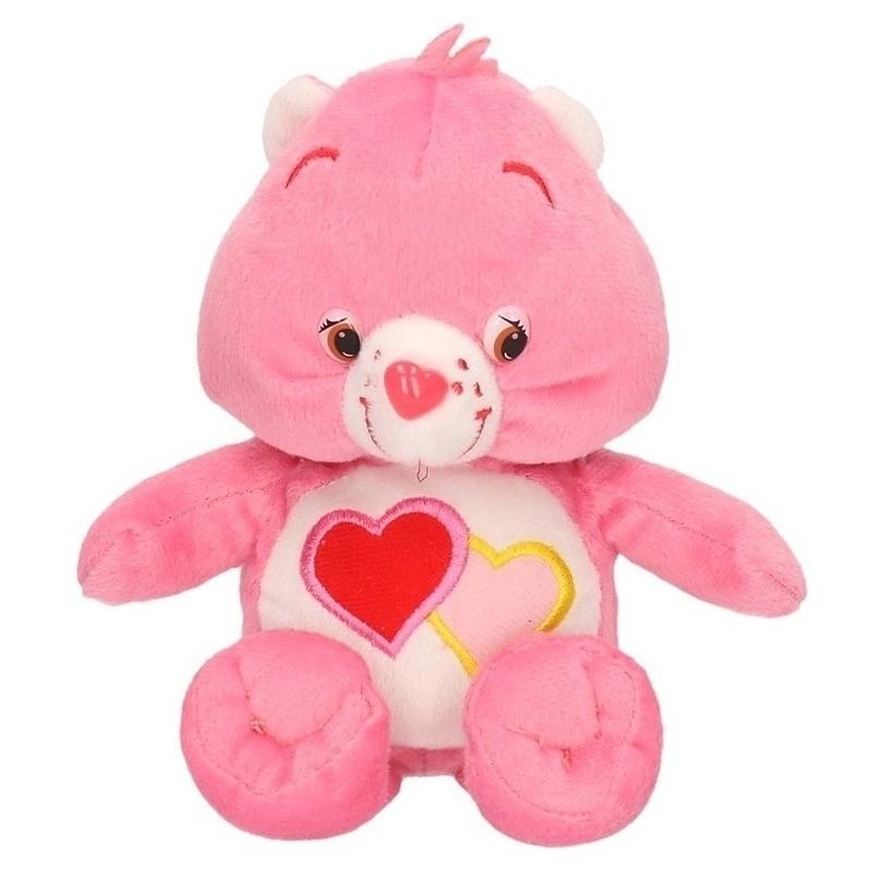 Pluche Troetelbeertje knuffel roze 18 cm