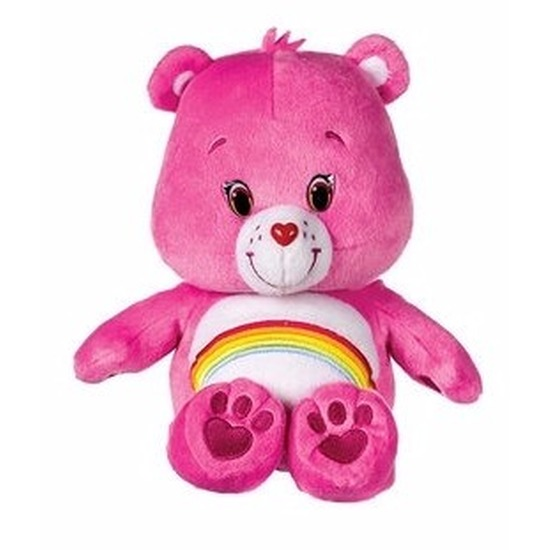 Pluche Troetelbeertje knuffel roze 22 cm