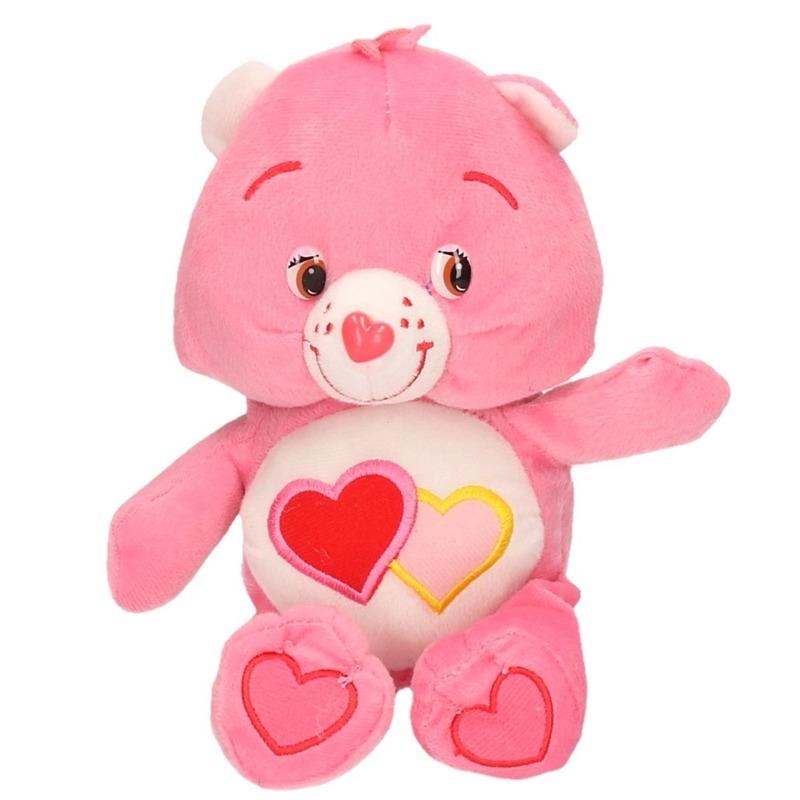 Pluche Troetelbeertje knuffel roze 24 cm