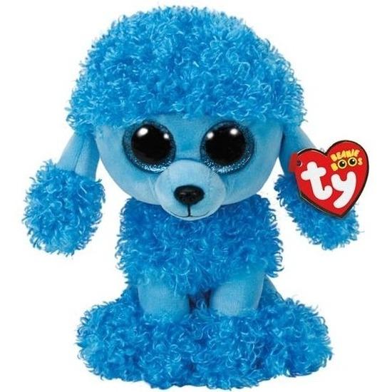Pluche Ty Beanie blauwe poedel honden knuffel Mandy 24 cm