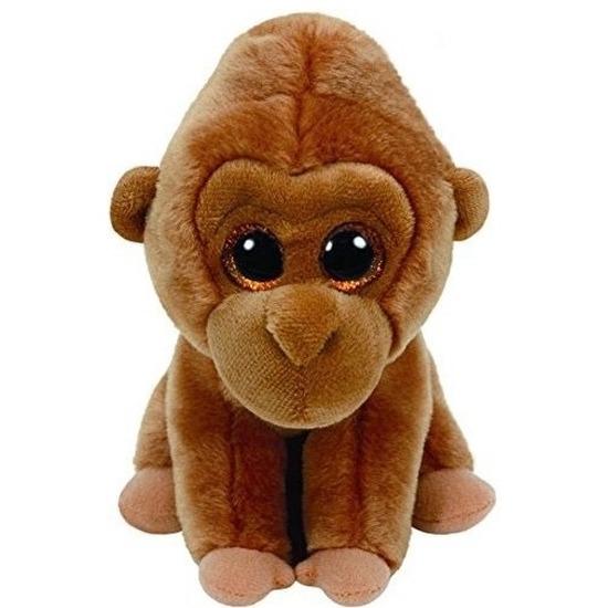 Pluche Ty Beanie bruine gorilla knuffel Monroe 24 cm speelgoed