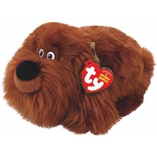 Pluche Ty Beanie bruine hond/honden knuffel Duke 15 cm