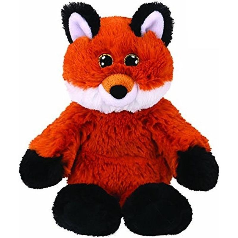 Pluche Ty Beanie bruine vos/vossen knuffel Fred 33 cm