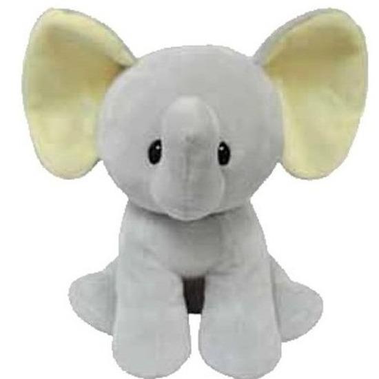 Pluche Ty Beanie grijze olifant knuffel Bubbels 17 cm