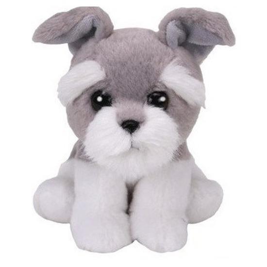 Pluche Ty Beanie grijze Schnautzer honden knuffel Harper 15 cm