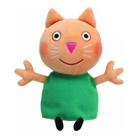 Pluche Ty Beanie knuffel Peppa Big kat/poes 15 cm speelgoed
