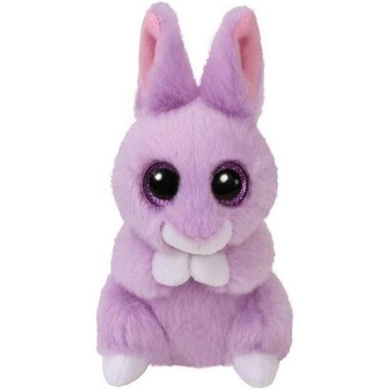 Pluche Ty Beanie paars konijn/haas knuffel April 10 cm