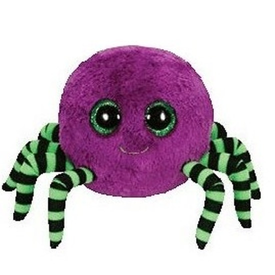 Pluche Ty Beanie paars spin knuffel Crawly 15 cm speelgoed