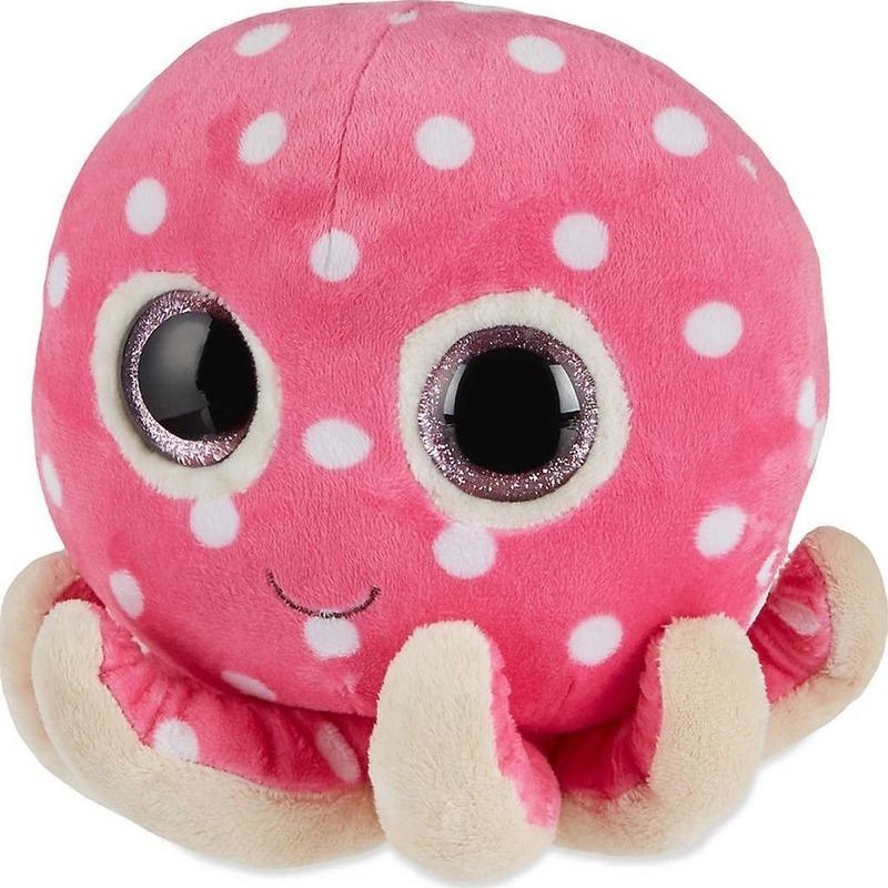 Pluche Ty Beanie roze octopus/inktvis knuffel Ollie 24 cm