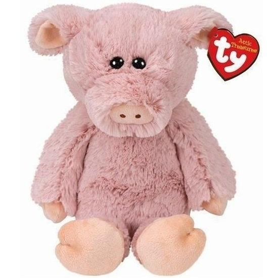 Pluche Ty Beanie roze varken/big knuffel Otis 20 cm