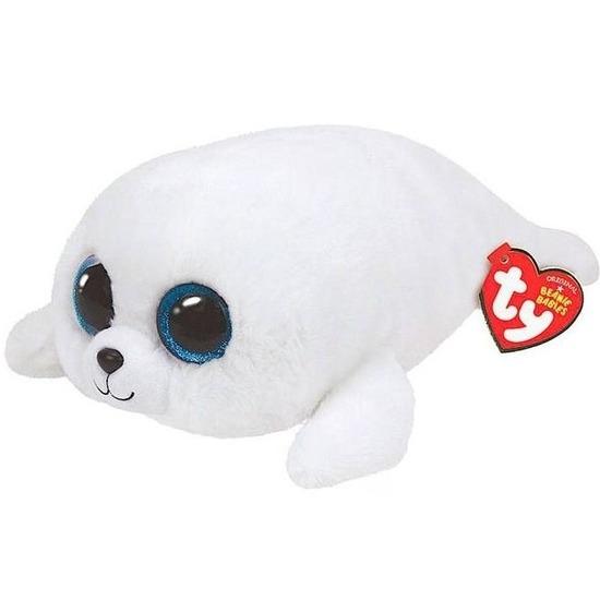 Pluche Ty Beanie witte zeehond knuffel Icy 24 cm