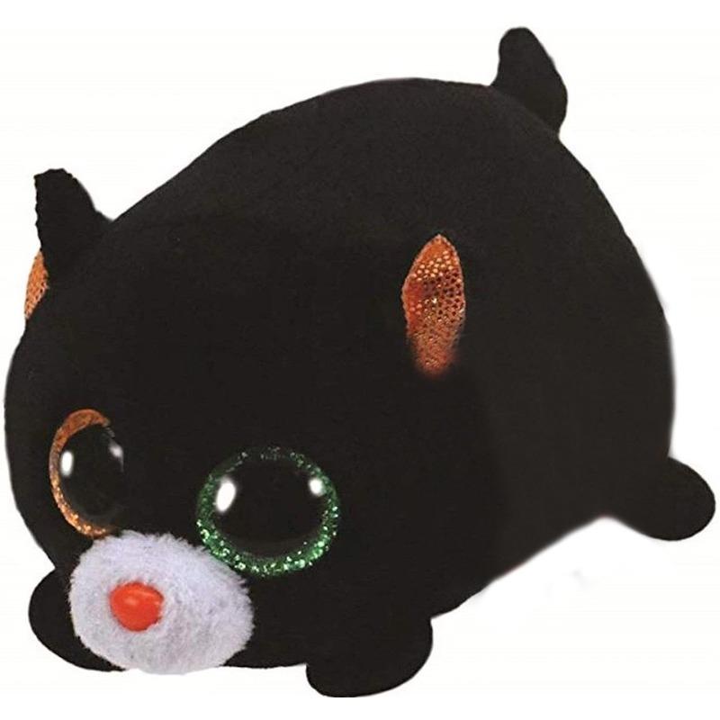 Pluche Ty Beanie zwarte poes/kat knuffel stackable 10 cm