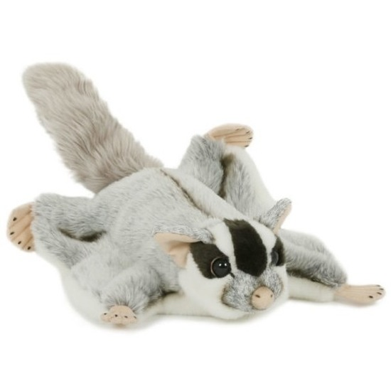 Pluche vliegende eekhoorn knuffel 28 cm speelgoed