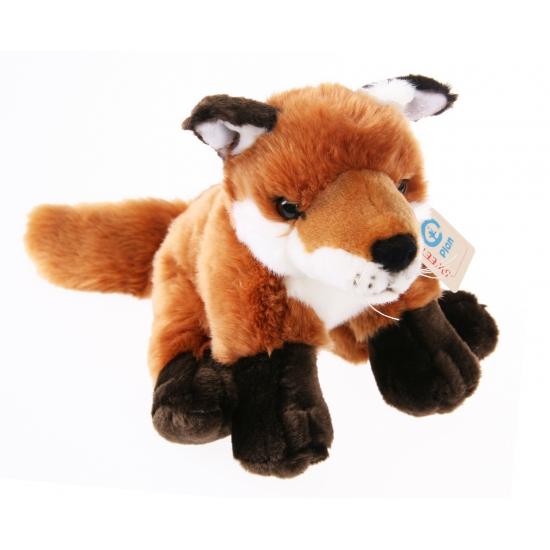 Pluche vos bruin-rood 22 cm