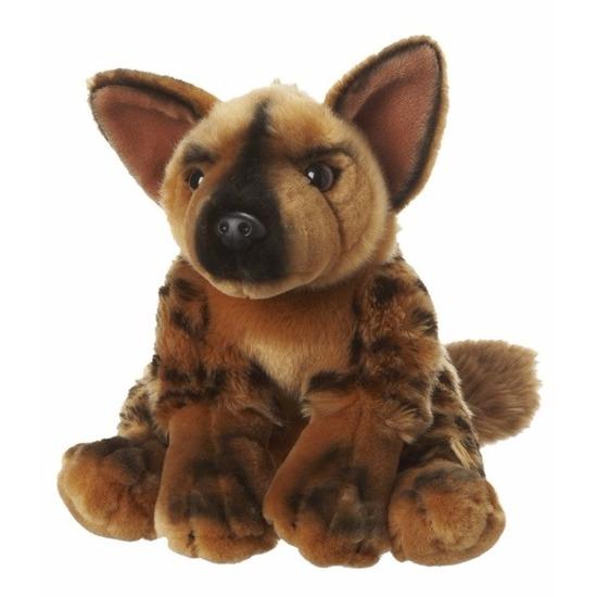Pluche wilde hond knuffeldieren 18 cm