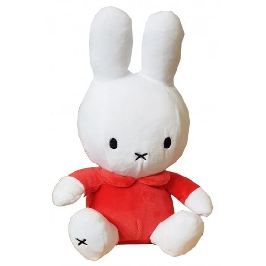 Pluche wit/rode Nijntje knuffel 25 cm baby speelgoed