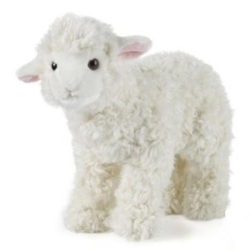 Pluche wit schaap/lammetje knuffel 29 cm speelgoed