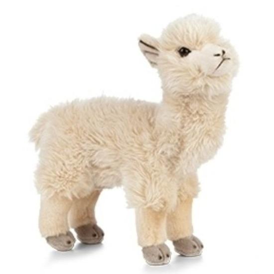 Pluche witte alpaca/lama knuffel 24 cm speelgoed