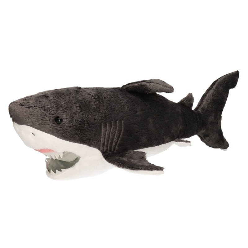 Pluche witte haai knuffel 54 cm speelgoed