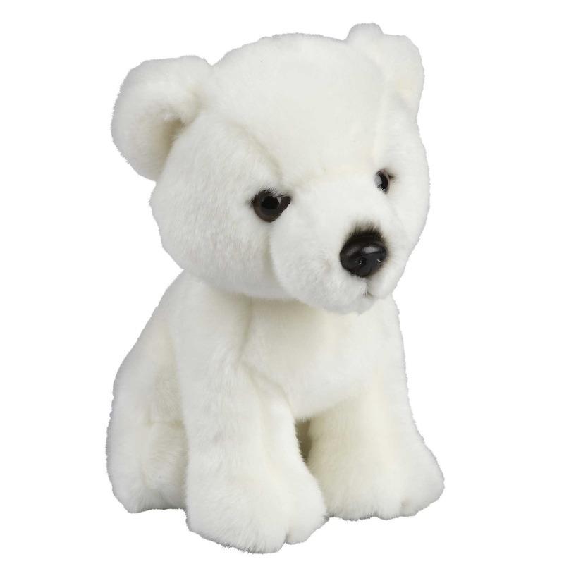 Pluche witte ijsbeer/beren knuffel 18 cm speelgoed