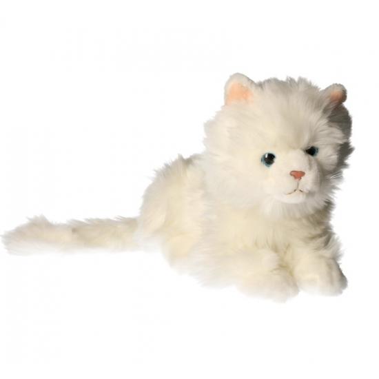 Pluche witte katten knuffel 27 cm