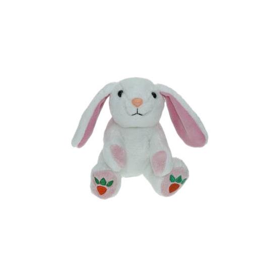 Pluche witte konijn/haas knuffel 14 cm speelgoed